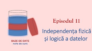 Baze de Date | S1E11 | Independența fizică și logică a datelor