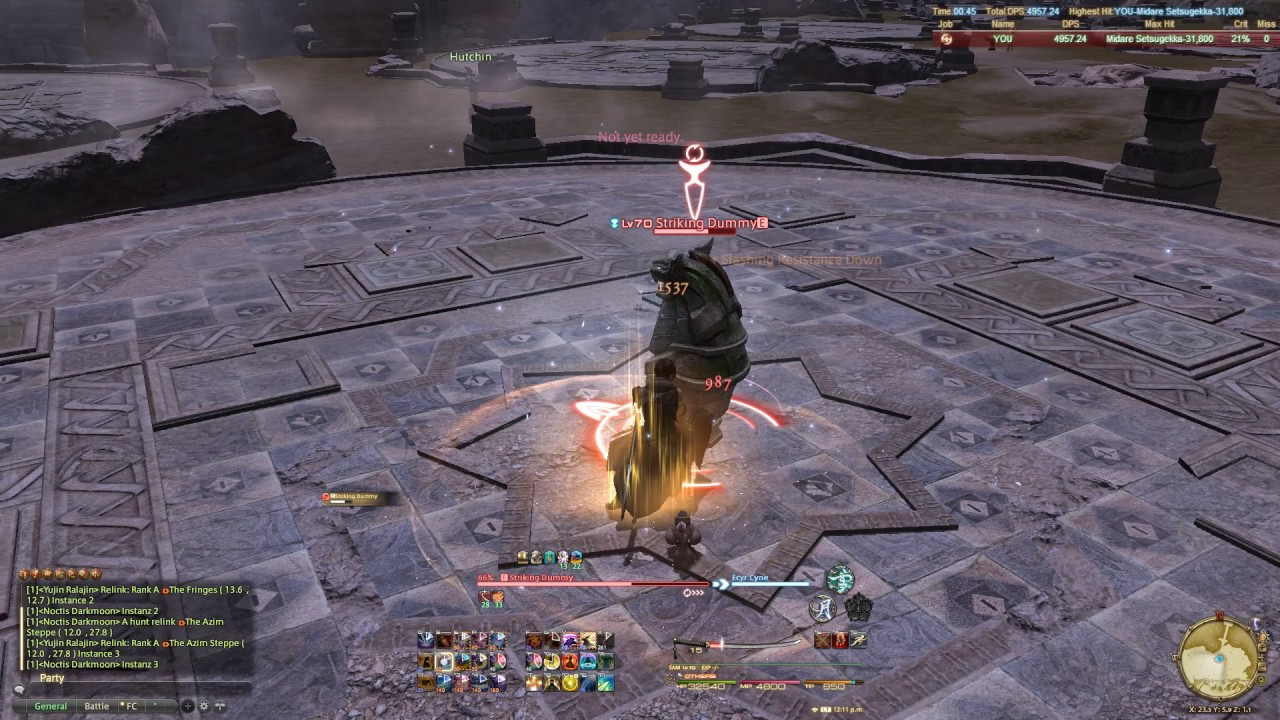 FFXIV] Samurai 3 Sen Opener - Susano Ex SSS - 4590 DPS - YouTube
