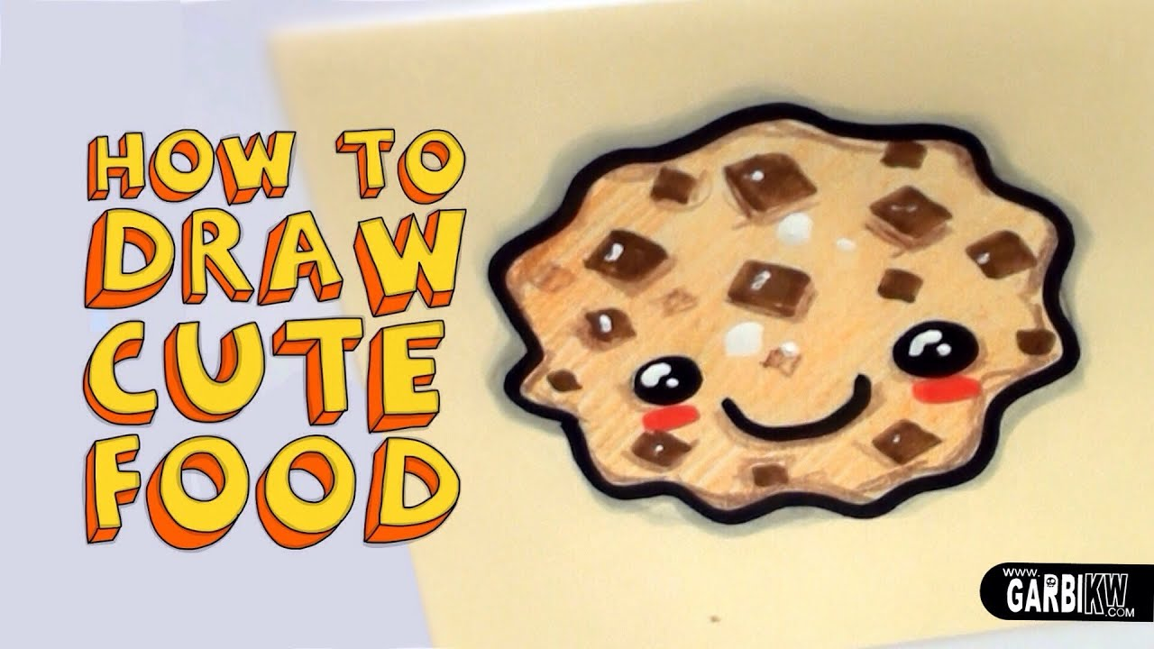 how to draw little cookie with milk