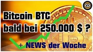 Bitcoin wird 250.000 $ erreichen? Wochen-News rund um Krypto-Währungen
