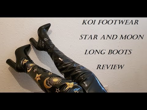 Trying Out Koi Footwear, Astrid Star And Moon Long Gothic Boots Review