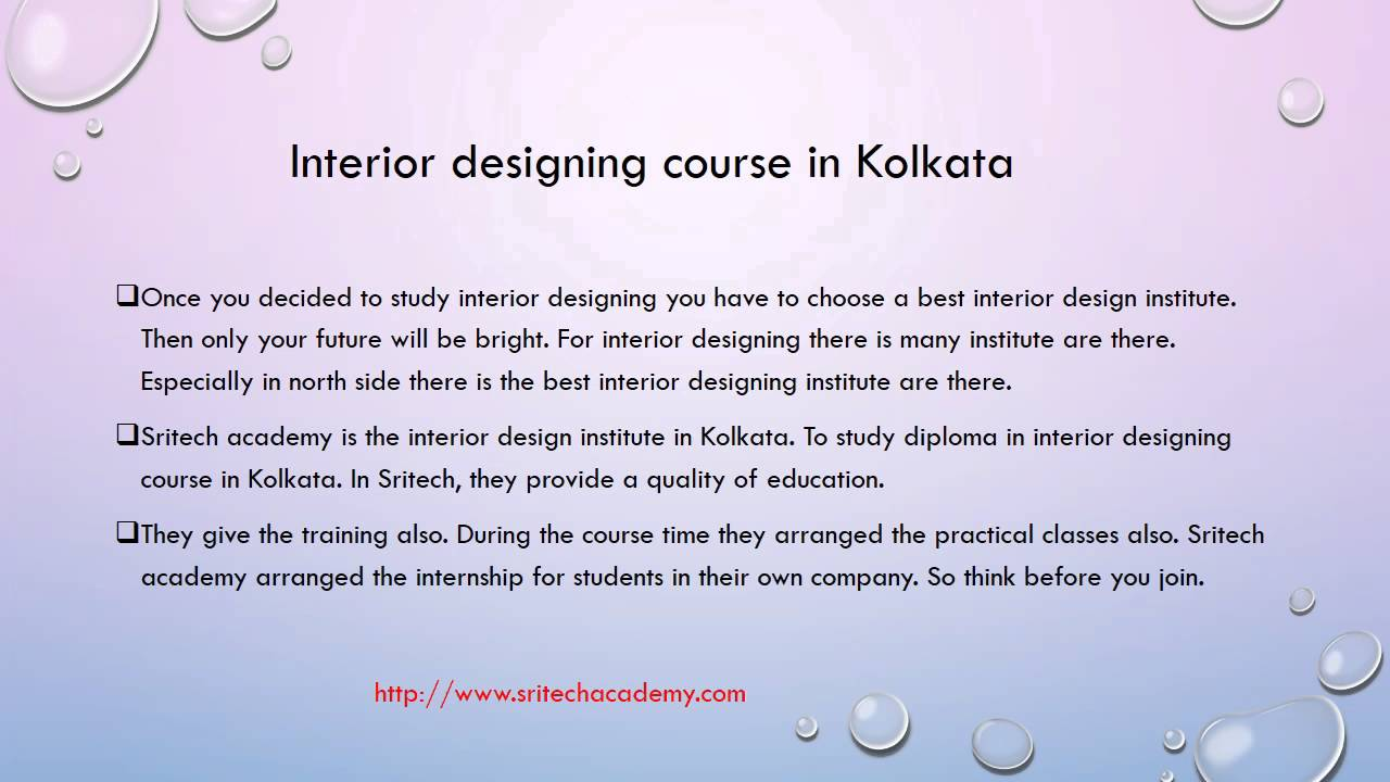 interior designing course in kolkata sritech academy youtube