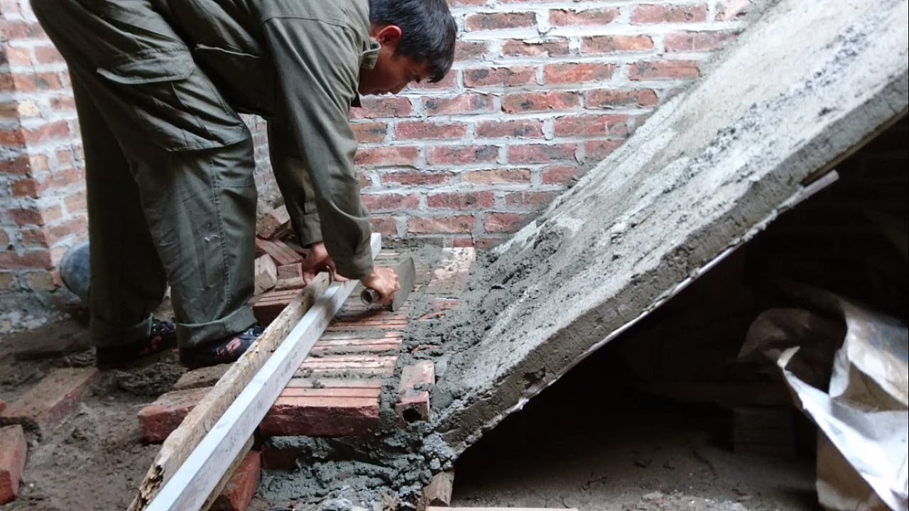 How To Building Stairs Amazing Construction Stairs Using Brick Sand And Cement