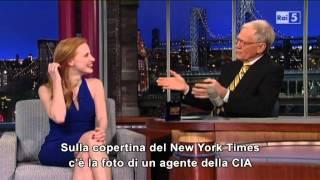 Jessica Chastain @ David Letterman Show 08/01/13 SUB ITA