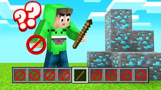 Playing MINECRAFT With ONLY 1 INVENTORY SLOT! (Impossible)