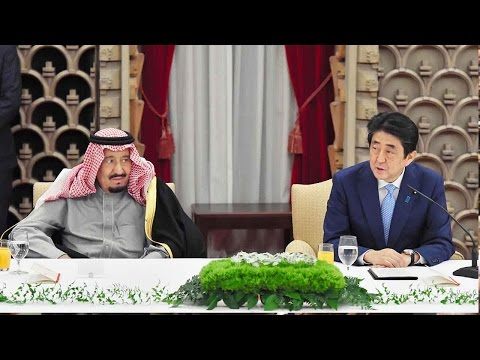 King Salman vows to boost Saudi-Japan economic ties in meeting with Abe