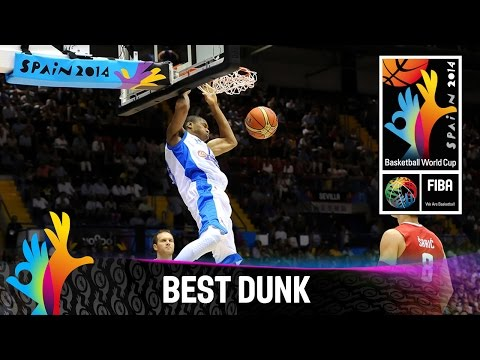 Antetokounmpo's huge two-handed dunk v Croatia - 2014 FIBA Basketball World Cup