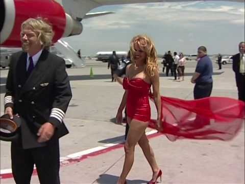 Embarrassment for Pamela Anderson as Richard Branson turns her upside down
