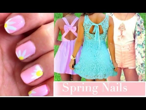 Cute & Easy Spring Nails! - YouTube