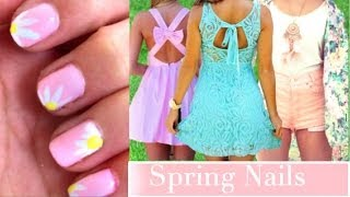 Cute & Easy Spring Nails! Thumbnail