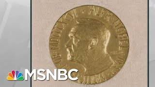 Trump Uses Photo Of Wrong Medal To Falsely Imply He Received Nobel Prize | Rachel Maddow | MSNBC