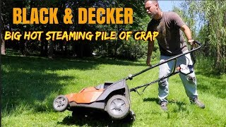Black and Decker outdoor power tools & battery powered lawnmower