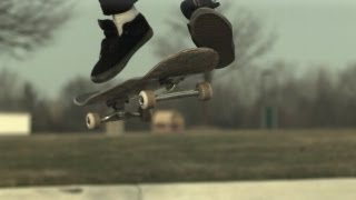 Skateology: late fs shuvit (1000 fps slow motion)
