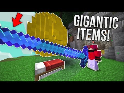 Bedwars But Every Item Is Gigantic