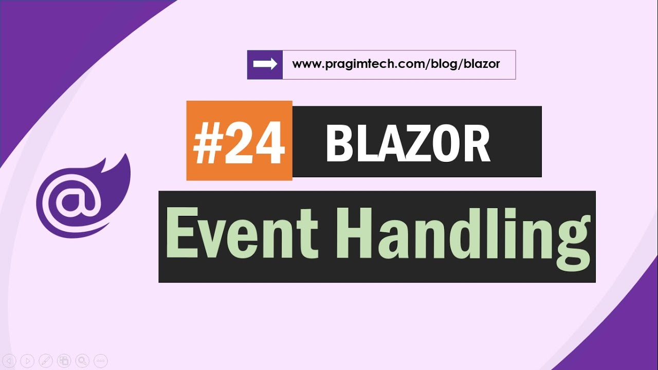 Blazor event handling