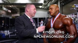 2017 IFBB Olympia 2nd Place Winner Big Ramy Interviewed By Tony Doherty for npcnewsonline.com