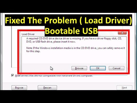 How to add USB 3.0 Drivers to Bootable USB windows 7   To fixed windows installation error
