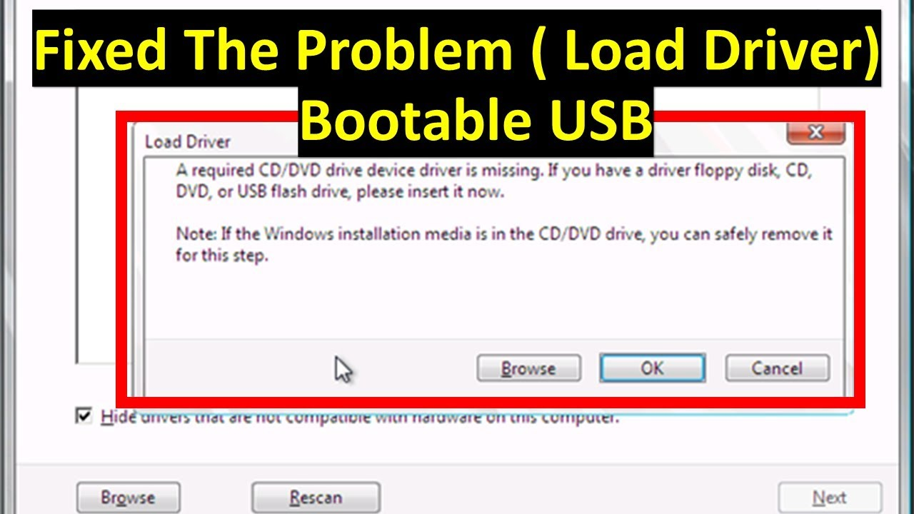 How to add USB 25.25 Drivers to Bootable USB windows 25  To fixed windows  installation error