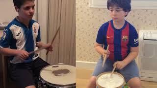 """""""El Derbi""""  - Martí y Oriol - Aula de percussió de l'Escola Municipal de Música de Sitges"""
