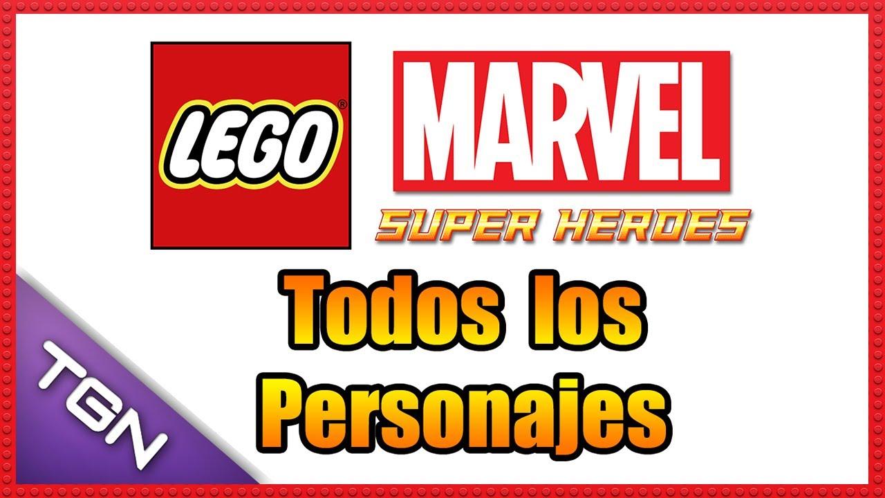 LEGO Marvel Super Heroes - Todos los Personajes - 720p HD ...