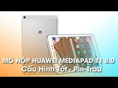 Mở hộp MediaPad T1 8.0 – Vỏ kim loại, Nghe gọi nhắn tin, Pin trâu!
