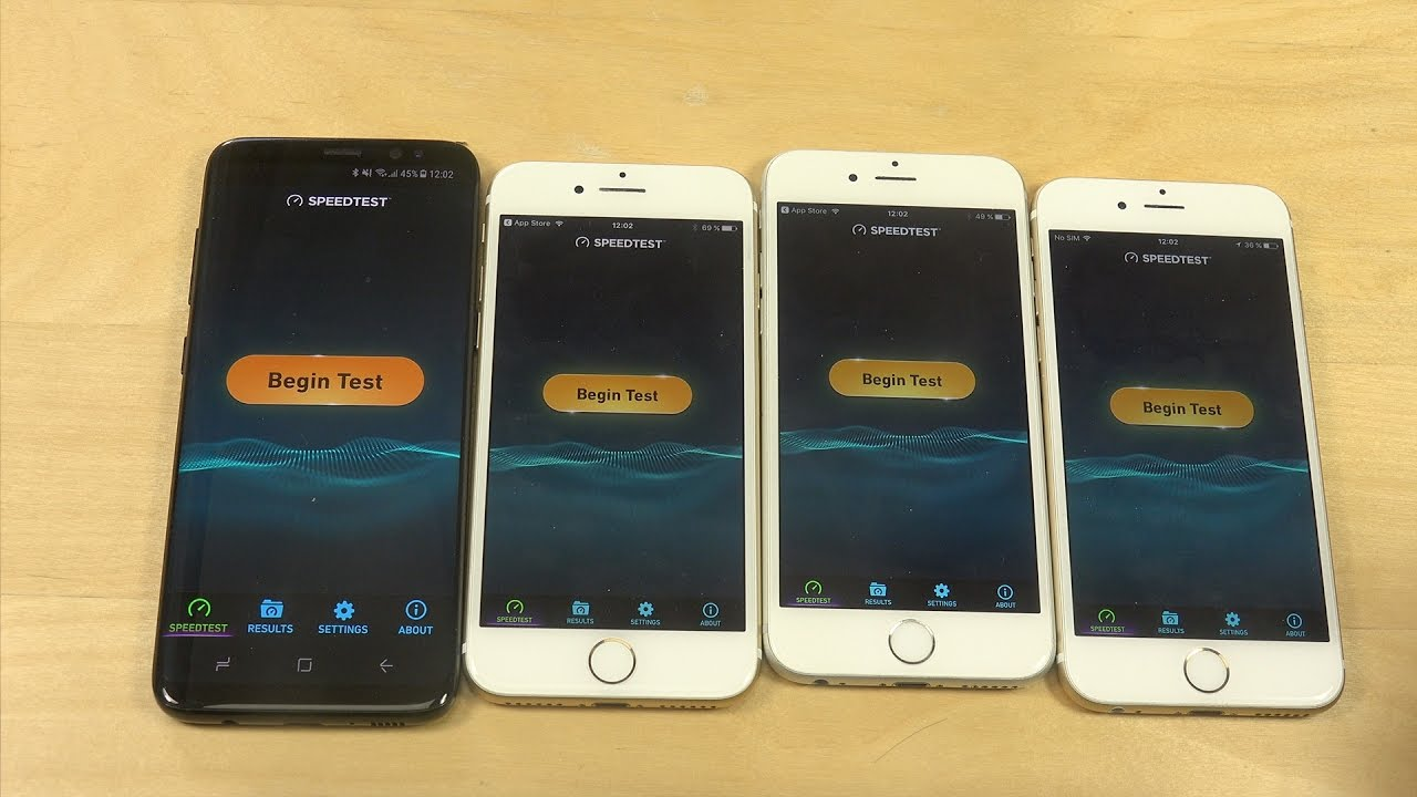 Iphone 7 Vs Galaxy S8 Speed Test