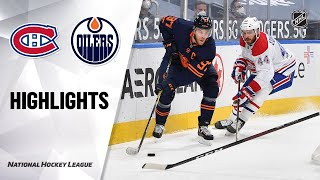 Canadiens @ Oilers 4/19/21 | NHL Highlights