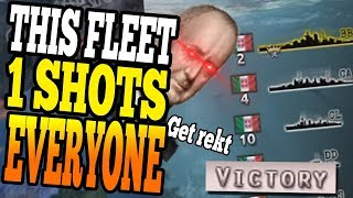 1 SHOT FLEET! THIS NAVY 1 SHOTS EVERYONE! THE BEST NAVY IN HOI4! - HOI4 Man the Guns Multiplayer thumbnail