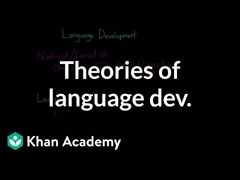 Theories of language development: Nativist, learning, interactionist | MCAT | Khan Academy