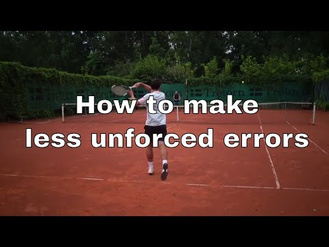 Tennis Strategy - How To Make Less Unforced Errors
