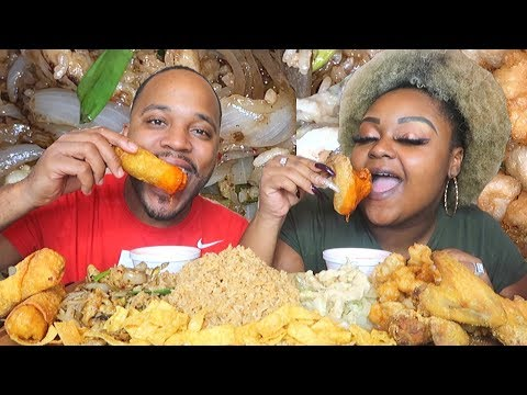 FRIED CHICKEN WINGS + CHINESE FOOD MUKBANG + CHIT CHAT