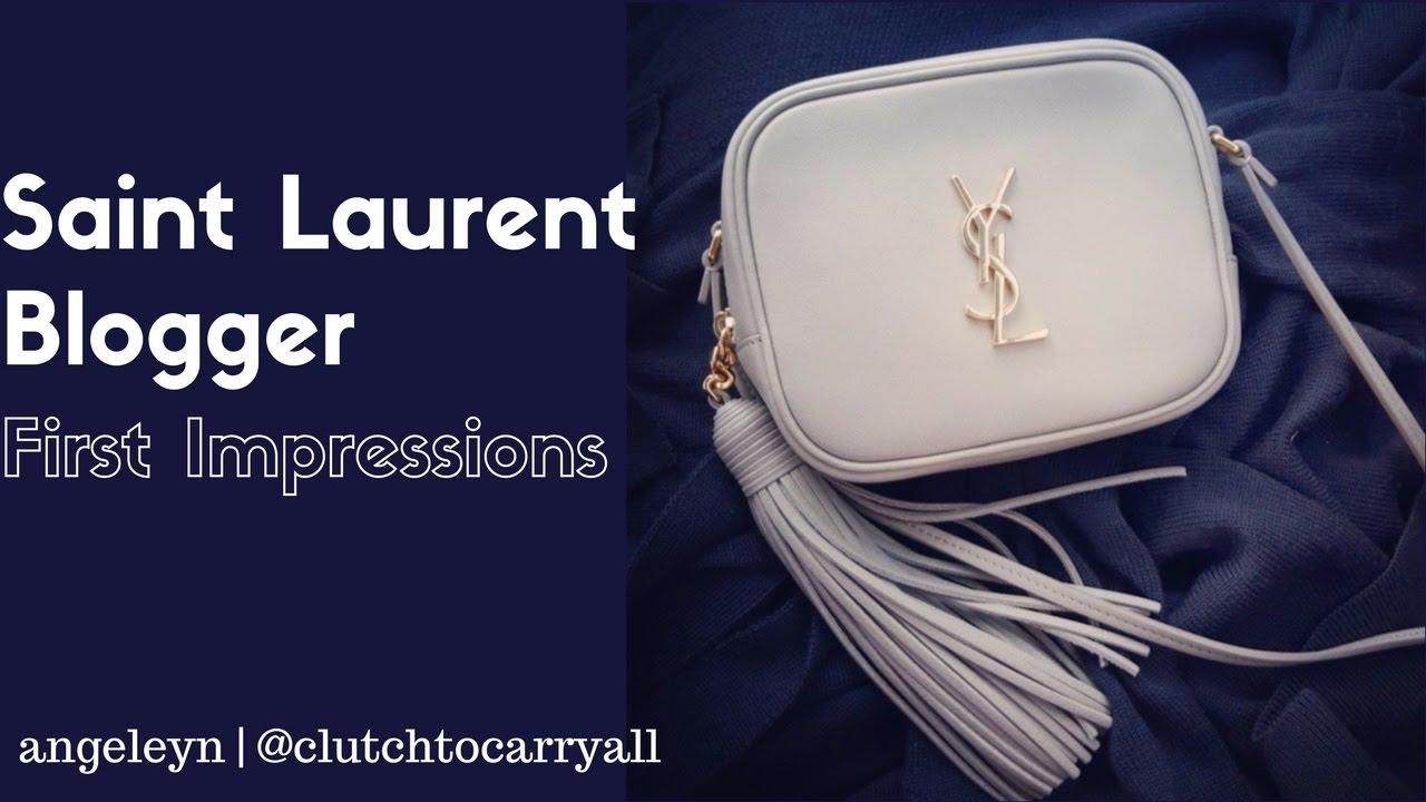 fbb84279b3 Saint Laurent monogram blogger crossbody first impressions - YouTube