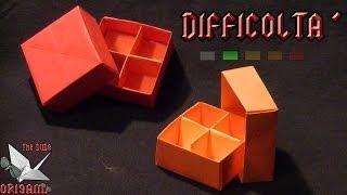 [ORIGAMI ITA] Scatola Con Separatore e Coperchio (David Brill/Paulo Bascetta) || Origami Utili