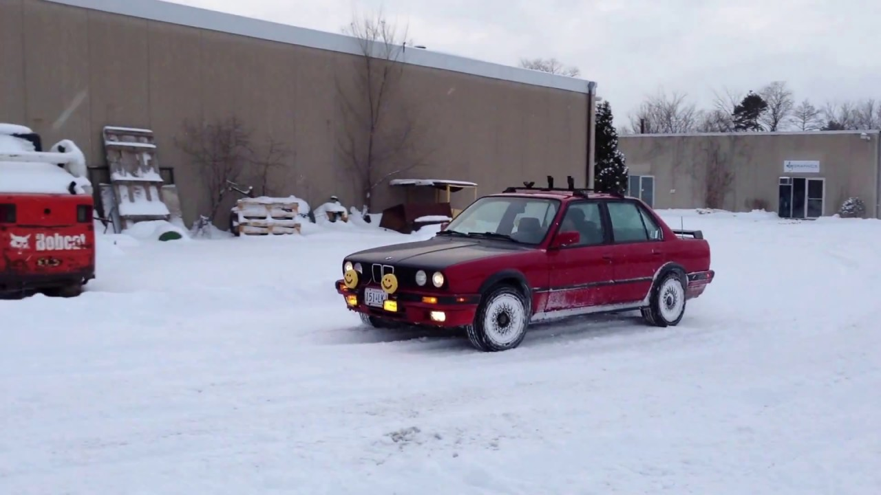 Bmw E30 325 IX 4x4 Estonia Playing In Snow. Burnout Fails. Ken ...