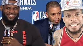 COULDNT FEEL HIS LEG BRUH LEBRON JAMES  TY LUE PRESS CONFERENCE - GAME 6