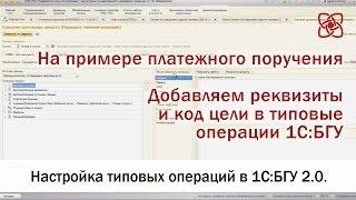 1С:БГУ 2.0. Настройка типовых операций