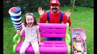 Öykü , colored Big lego Fun Pretend Kid Video