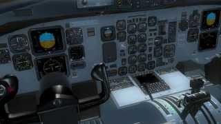 FSX ATR 72-500  T.O from Heathrow - EGLL / Landing to London City -  EGLC