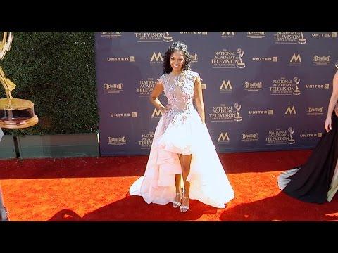 Mishael Morgan 2017 Daytime Emmy Awards Red Carpet