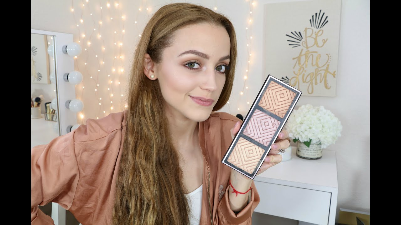 Makeup GeekxKathleenLights Highlighter Palette Info & Swatches - YouTube