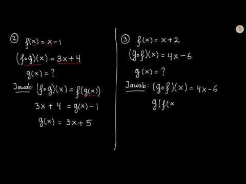 Contoh Soal Fungsi Komposisi Youtube