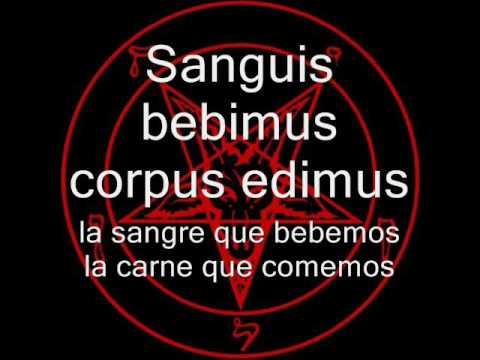 Ave satani-lyrics (español-latín)