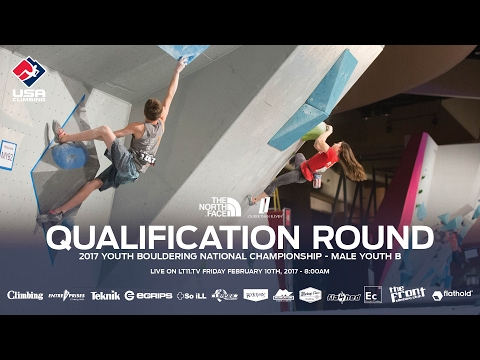 Male Youth B • Qualifiers • 2017 Youth Bouldering Nationals • 2/10/17 8:00am