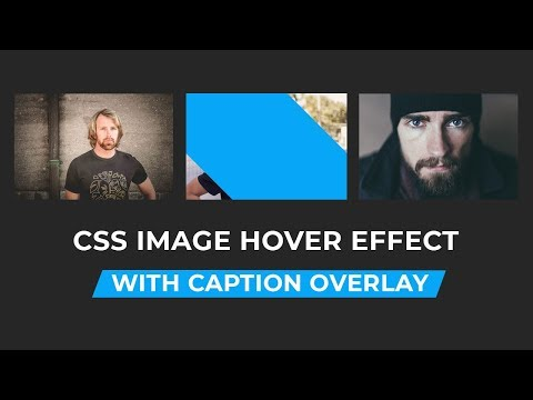 Awesome Image Hover Effect with Caption Overlay | Pure Css Tutorial