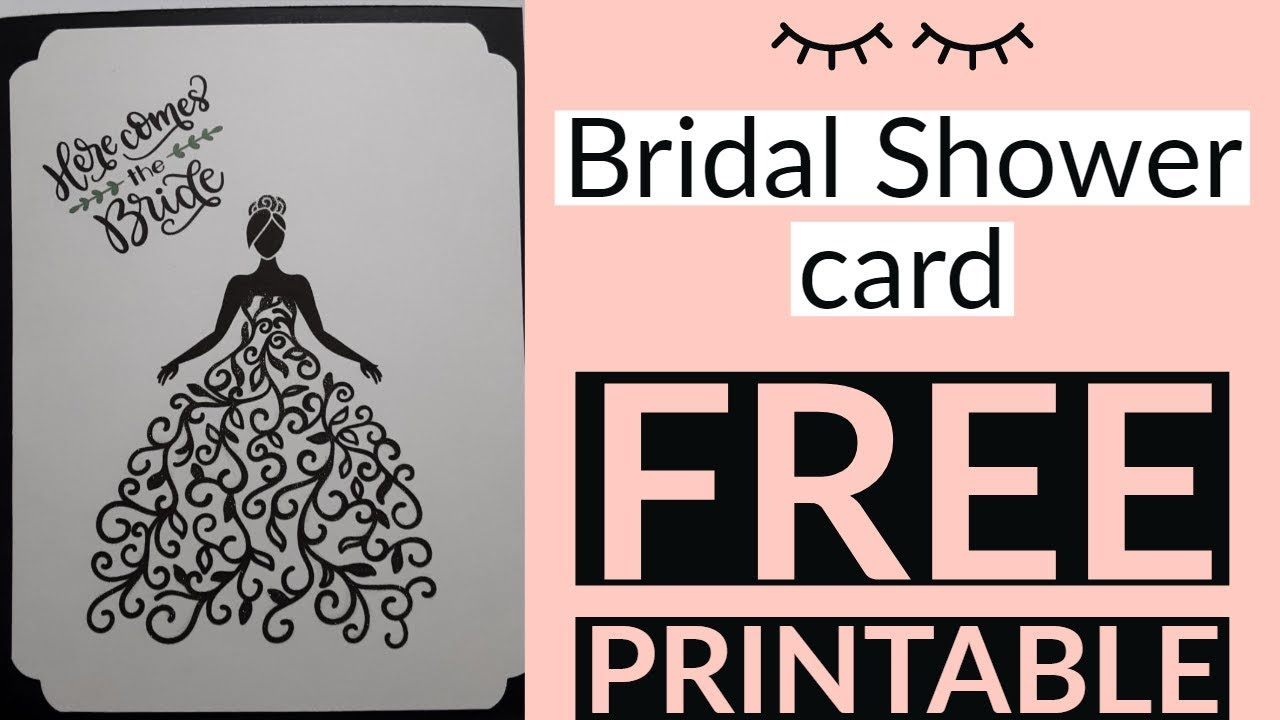 It is a graphic of Free Printable Bridal Shower Cards regarding wedding shower