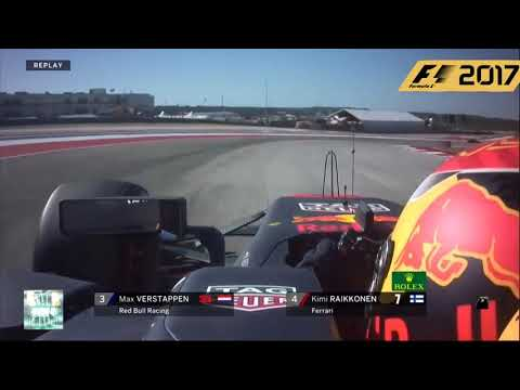 F1 2017 USA Grand Prix MAX VERSTAPPEN 3th place move LAST LAP