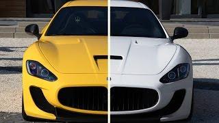 Как изменить цвет объекта на белый или черный в Фотошопе