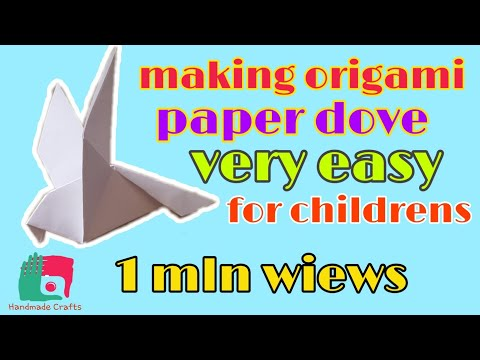 Making origami paper dove | WoW amazing for childrens | Very easy !!