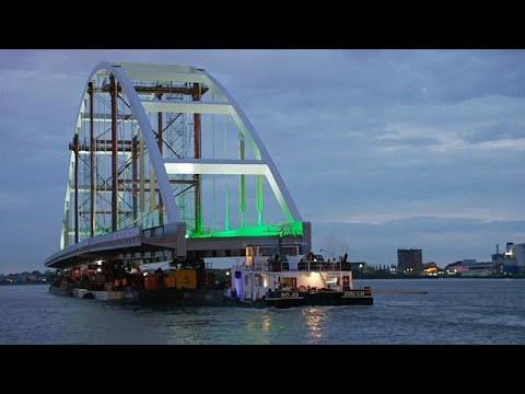 شاهد: جسر سورهوف الجديد يسير على طول النهر في روتردام الهولندية …  - نشر قبل 2 ساعة