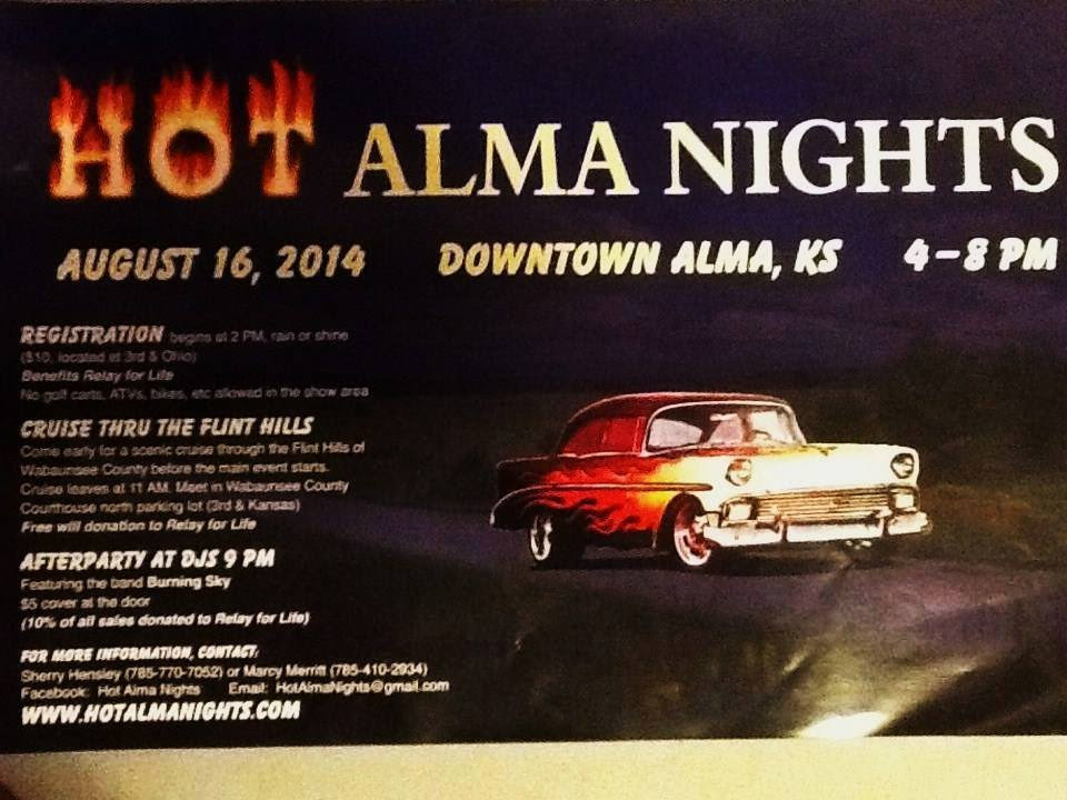 2014 Hot Alma Nights Car Show Alma Kansas W The Good Sam Club Band Saturday 8 16 2014